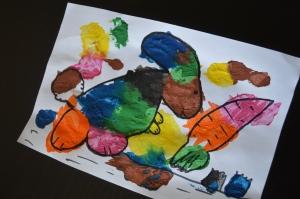 peinture en sachet - dessin